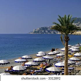 beach promenade des angalais nice alpes-maritime provence cote d'azur french riviera south of france meditteranean france europe