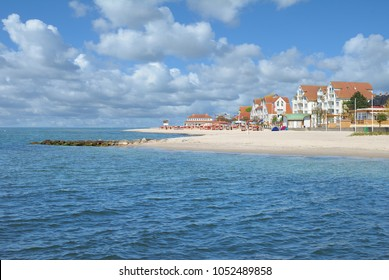 Beach and Promenade of Laboe at baltic Sea,Schleswig-Holstein,Germany