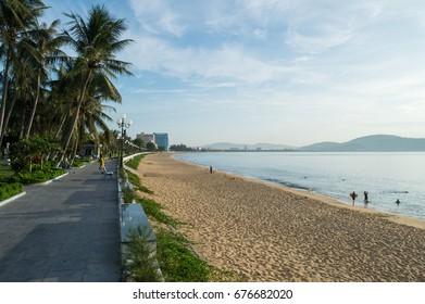 Beach and Promenade, Qui Nhơn, Vietnam