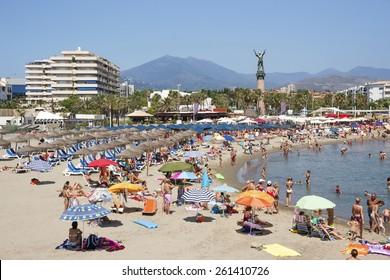 Beach in the Puerto Banus (Spain) luxury resort