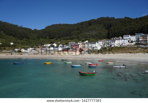 Beach in Puerto de Bares, Estaca de Bares. Galicia,Spain