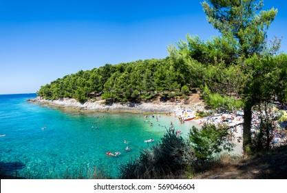 Beach in Pula, Croatia
