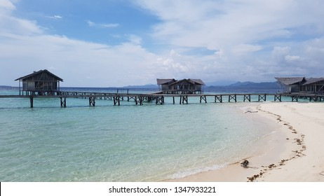 Beach at Pulo Cinta Resort Gorontalo Indonesia