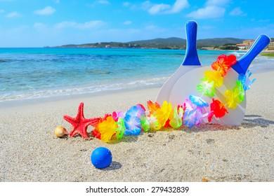 0136cdd0de595 Beach Bag Seashell Flip Flops Rock Stock Photo (Edit Now) 178306754 ...
