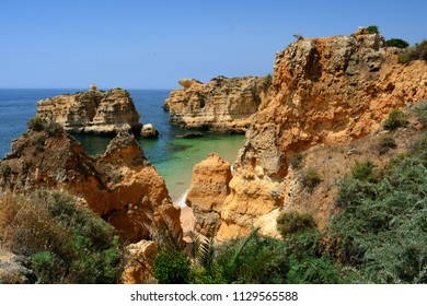 Beach of São Rafael in Albufeira, Algarve, Portugal