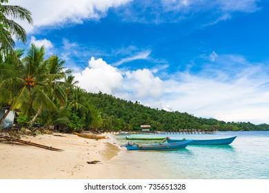 Beach in Raja Ampat, West Papua, Indonesia.