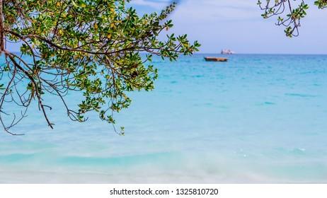 Beach in Rayong, Thailand.