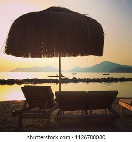 Beach relax calm chair hut jute