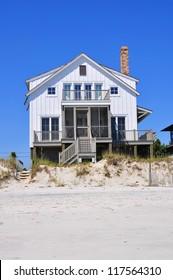 Beach rental property on pretty summer day