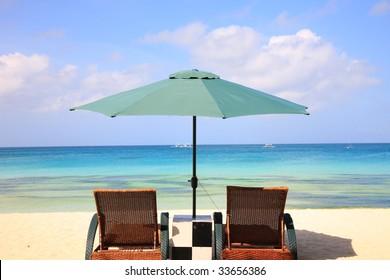 beach resort of boracay island,Philippines