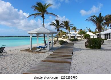 A beach resort in a Caribbean island, Long Island, Bahamas