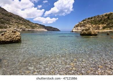 Beach at Rhodes island, Greece (Anthony Quinn beach)