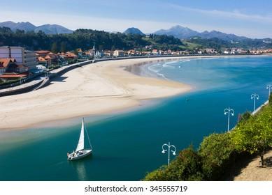 Beach of Ribadesella in Spain