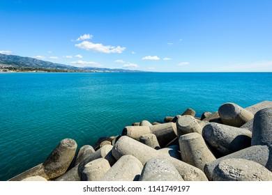 Beach of Rio Verde-Puerto Banus, Marbella, Costa del Sol Occidental, Malaga, Andalusia, Spain, Iberian Peninsula