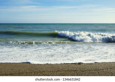 beach of Roquetas de Mar in Andalusia, Spain