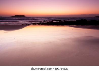 Beach in Sagres at dawn