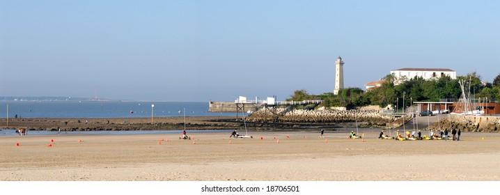 Beach of Saint Georges de Didonne in France