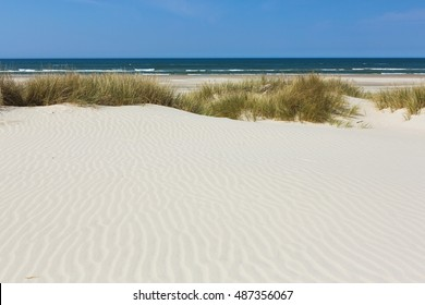 Beach and sand dunes and sea