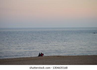 beach sand and sea