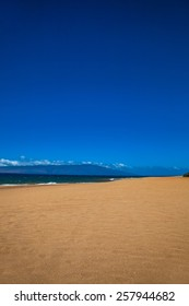Beach, sand and sky.  Lanai, Hawaii.  Polihua Beach.