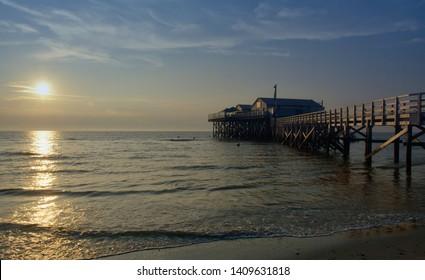 Beach of Sankt Peter-Ording at North Sea,Schleswig-Holstein,Germany