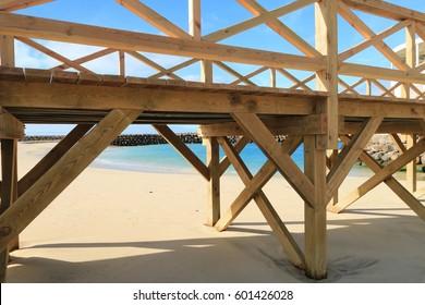 BEACH SANTA MARIA , SAL ISLAND , CAPE VERDE