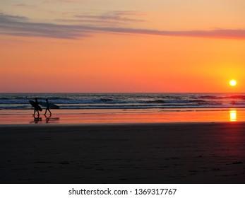 Beach in Santa Teresa, Mal Pais, Costa Rica