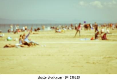 beach scene with blur effect