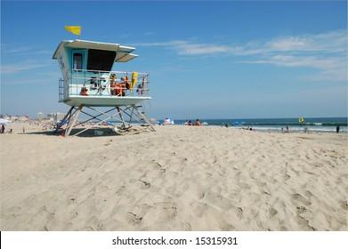 Beach scene; Coronado Island; San Diego, California