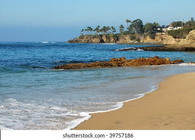 Beach scene; Laguna Beach, California