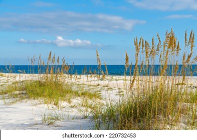 A beach scene on the Alabama Gulf Coast.