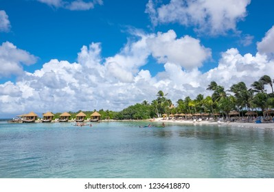 Beach Scene on the Beautiful and Tranquil Renaissance Islands