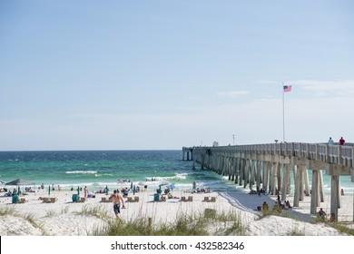 Beach Scene on Florida's Emerald Coast; Panama City Beach