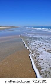 Beach scene with surf