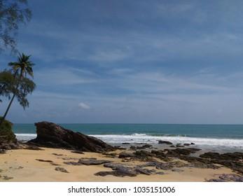 Beach scene in Terengganu, Malaysia.