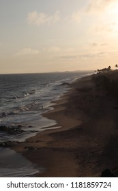 Beach scenery from inside Cape Coast Slave Castle, Ghana
