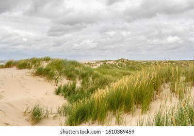 beach scenery seen at Spiekeroog, one of the East Frisian Islands at the North Sea coast of Germany