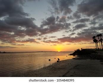 beach scenery sunset