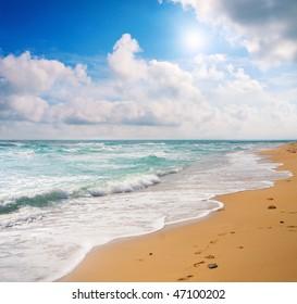 beach and sea
