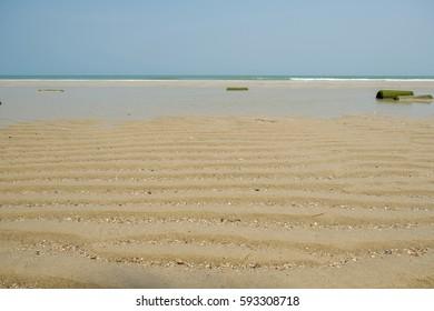 Beach sea and blue sky in Thailand.
