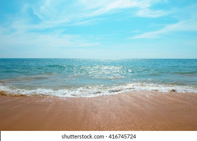 Beach sea blue summer sunny - Concept leisure relax
