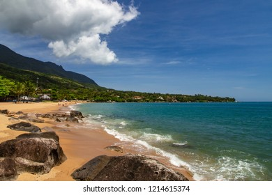 beach and sea in the city of Ilhabela, Brazil