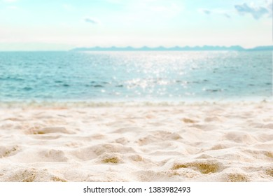 Beach and sea clear water of holiday relax summer