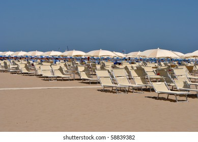 beach and sea in Italy in the early hours of the morning