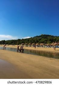 Beach sea in italy wave