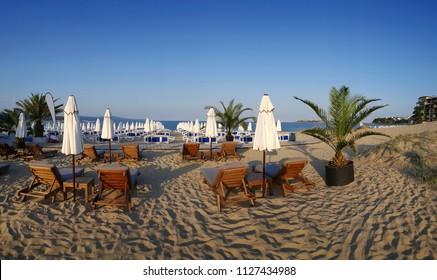 Beach of sea resort Sunny Beach, Bulgaria