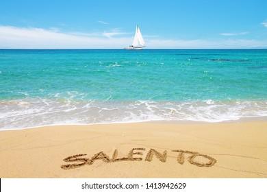 Beach and sea of Salento, Apulia, Italy