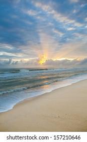 Beach and sea sunrise