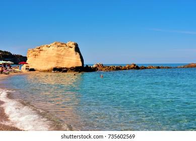 beach and sea of Tropea Calabria Italy