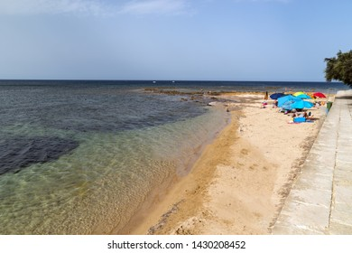 Beach of the sea village Marzamemi, Southeast Sicily